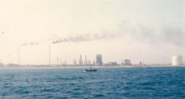 Marsa El Brega vanuit zee gezien.